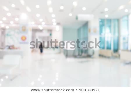 vazio · cadeiras · hospital · três · sala · de · espera · moderno - foto stock © jamdesign