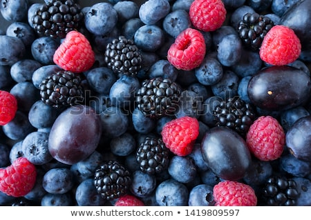 baies · framboise · BlackBerry · isolé · blanche - photo stock © furmanphoto