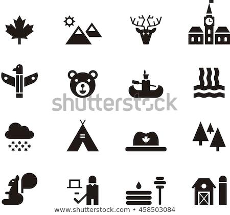 Canada icons set Stock photo © netkov1