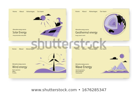 Energia app interfaccia modello energie rinnovabili Foto d'archivio © RAStudio
