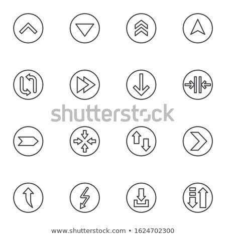 átutalás nyilak mozog skicc ikon lineáris Stock fotó © kyryloff