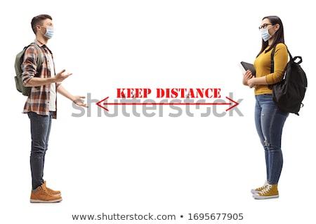 Young man listening conversation between women Stock photo © Kzenon
