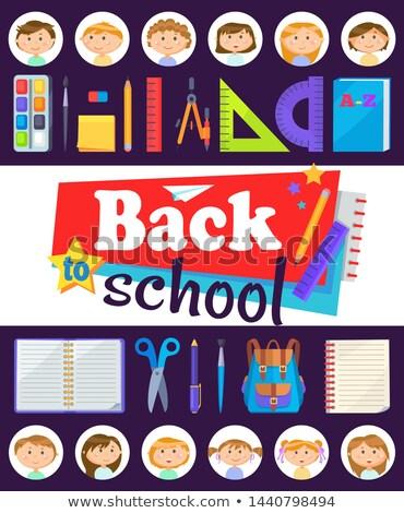 nino · cabeza · educación · iconos · negocios · cara - foto stock © robuart