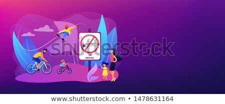 Smoke free zone concept banner header Stock photo © RAStudio