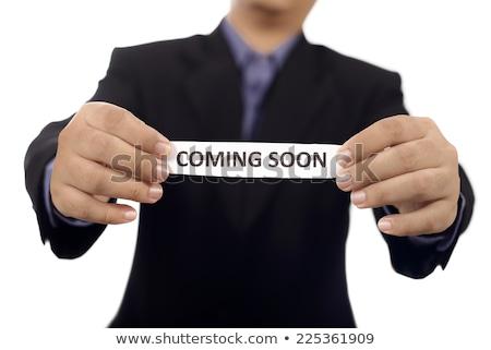 Iş adamı kart yakında metin dijital bileşik Stok fotoğraf © wavebreak_media