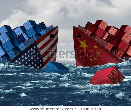 Stockfoto: China · economisch · gevaar · handel · oorlog · angst