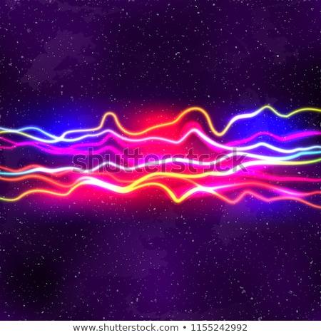 Neon lijnen nieuwe retro golf 80s Stockfoto © SwillSkill