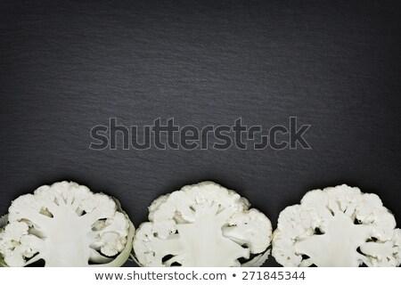 Vág karfiol copy space három szeletel fehér Stock fotó © lichtmeister