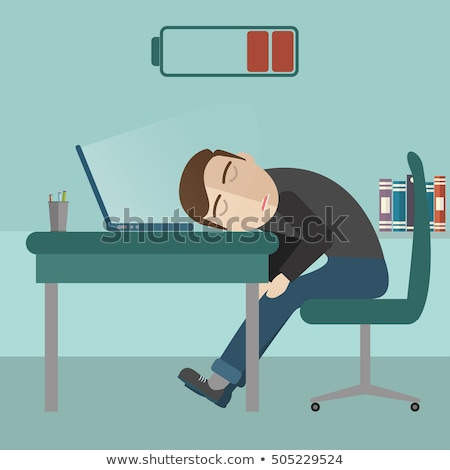 Sleeping sickness businessman with full head concept Stock photo © ra2studio