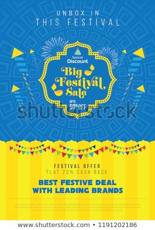 happy diwali festival sale banner decorative design stock photo © sarts