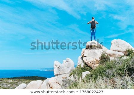 男 写真 海 コルシカ島 フランス ストックフォト © nito