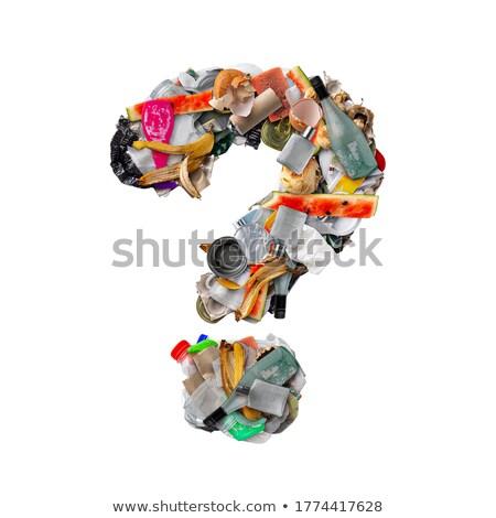 Interrogation plastique déchets bouteilles pollution écologie Photo stock © lightkeeper