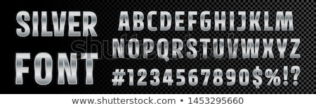 Brushed metal font Letter A 3D Stock photo © djmilic