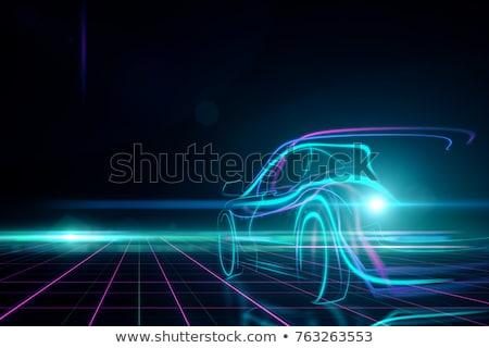 Engineering futuristische motor jet procede Stockfoto © solarseven