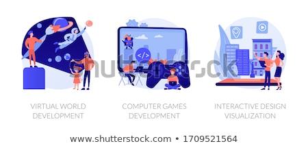 VR space exploration vector concept metaphor Stock photo © RAStudio