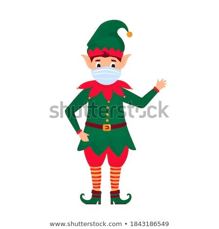 Christmas Holiday Joy, Elf Happy to Greet People Stock photo © robuart