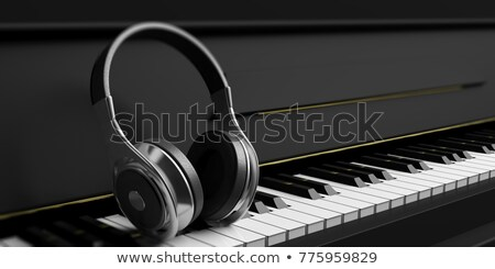 Piano keyboard and headphones Stock photo © antonio_gravante