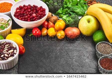 Voedsel donkergrijs dieet top Stockfoto © Illia