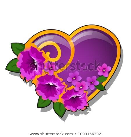 форме сердце украшенный свежие цветок Сток-фото © Lady-Luck