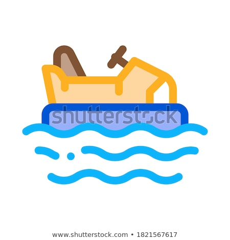 bumper water machine icon vector outline illustration Stock photo © pikepicture