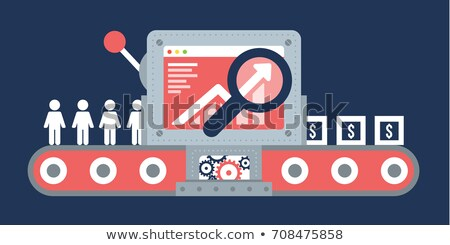 Seo Optimization and Increase in Conversion Vector Stock photo © robuart