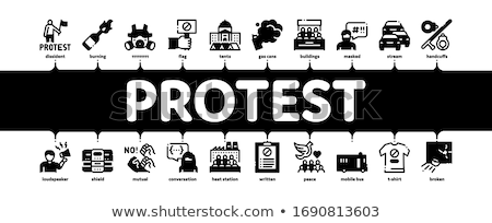 Protest And Strike Minimal Infographic Banner Vector Stock photo © pikepicture