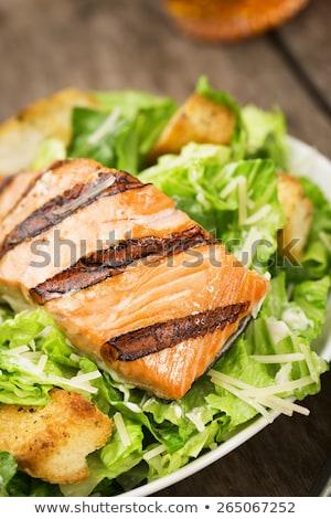 焼き 鮭 シーザーサラダ 松 ナット ストックフォト © olira