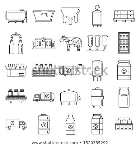 Milk industry icons Stock photo © ayaxmr