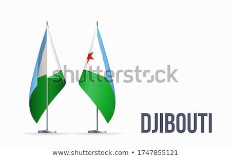 Dżibuti banderą biały projektu zielone star Zdjęcia stock © butenkow