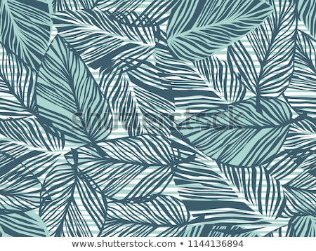 Tropical palm leaves, jungle leaves seamless vector floral pattern background Stock photo © natali_brill