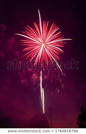 vuurwerk · kleurrijk · zwarte · hemel · teken · idee - stockfoto © photosil