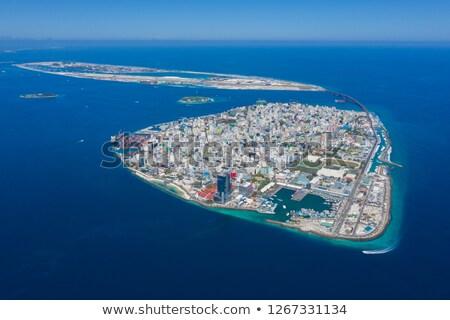 Foto stock: Internacional · aeroporto · Maldivas · avião · pronto