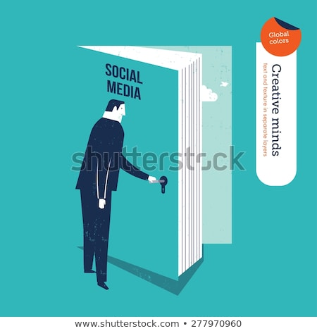 open book, social networking concept Stock photo © ra2studio