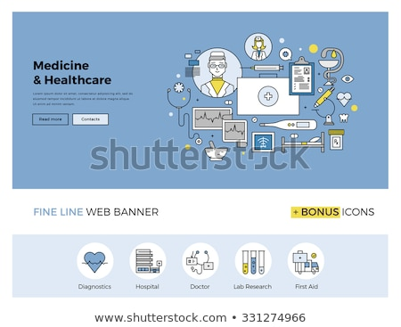 Cardiology Diagnostic, Doctor in Laboratory Vector Stock photo © robuart