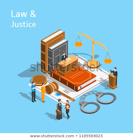 Court Icon Law And Judgement isometric icon vector illustration Stock photo © pikepicture