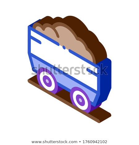 Heavy Truck with Material Metallurgical isometric icon vector illustration Stock photo © pikepicture