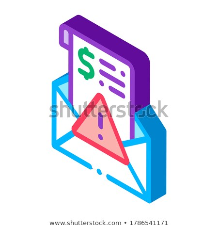 Fake Money Criminal Liability Warning isometric icon vector illustration Stock photo © pikepicture