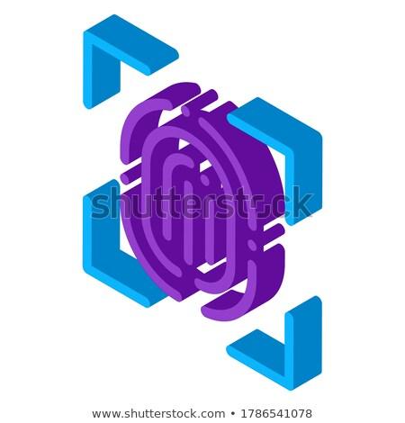 Scannen vingerafdruk isometrische icon vector Stockfoto © pikepicture
