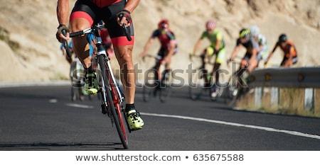 Ciclista equitação estrada bicicleta triathlon Foto stock © Maridav