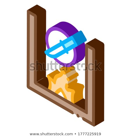 Knife Fireplace isometric icon vector illustration Stock photo © pikepicture