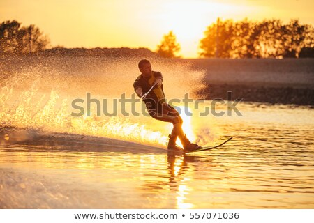 sunset waterski stock photo © simplefoto