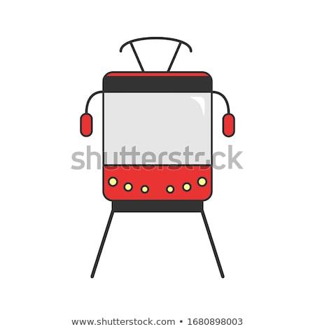 трамвай старые сломанной город текстуры Сток-фото © RazvanPhotography