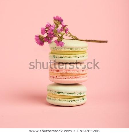 brązowy · macarons · odizolowany · karmel · biały · żywności - zdjęcia stock © razvanphotography