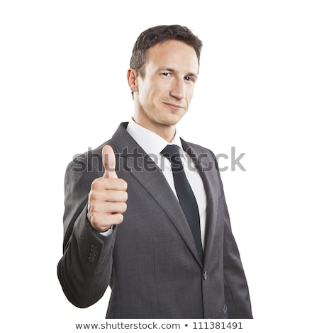Handsome Young Businessman With Thumbs Up. Isolated Stock photo © varlyte