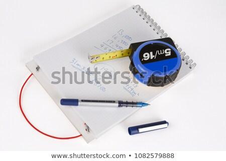 Kollázs számológép papír toll üzletemberek dolgozik Stock fotó © Pruser