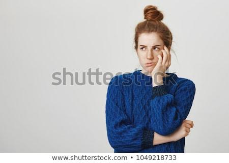 女性 · 思考 · クローズアップ · 肖像 · 不幸 - ストックフォト © photography33