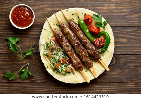 meat on a shish kebab stock photo © romvo