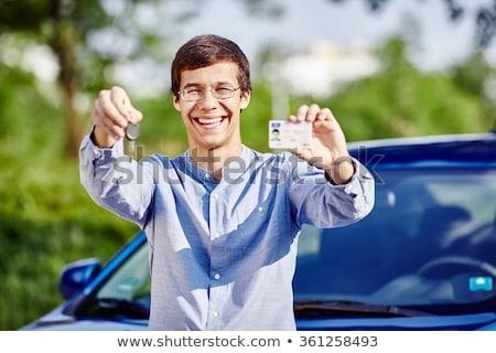подростку вождения лицензия женщину девушки Сток-фото © photography33