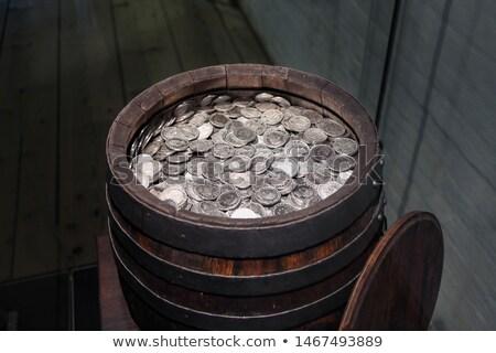 The old silver coins Stock photo © sibrikov