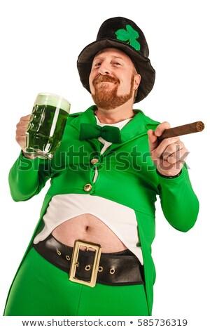 Leprechaun Holding Beer Glass stock photo © indiwarm
